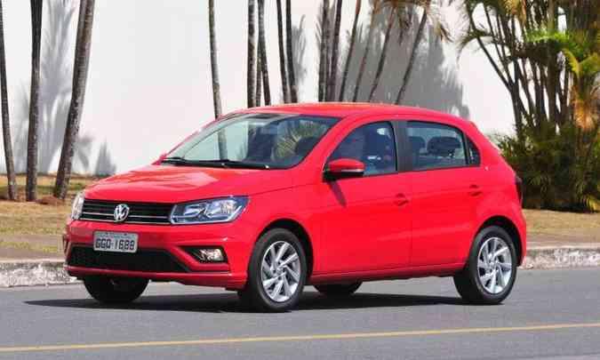 O Volkswagen Gol é um projeto velho, mas é um dos mais caros do segmento: R$ 55.760(foto: Gladyston Rodrigues/EM/D.A Press)