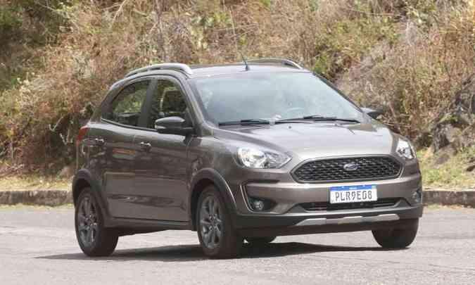 O compacto Ford Ka teve uma queda de mais de 35% nos emplacamento em 2020(foto: Jair Amaral/EM/D.A Press)