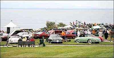 Entre os vários esportivos, destaque para os diferentes modelos Porsche - Fotos: autoblog.com/Reprodução da internet - 28/9/08