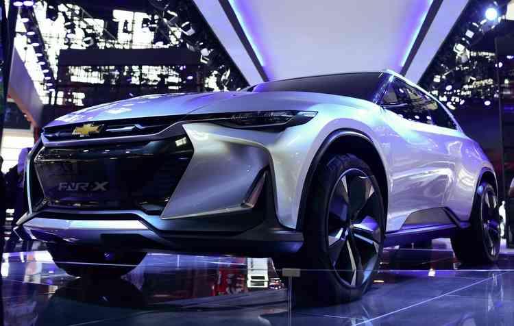FNR-X conceito possui um motor híbrido plug-in. Foto: Wang Zhao / AFP -