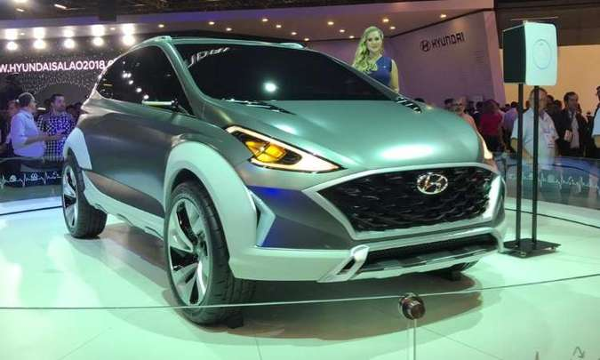 O conceito Hyundai Saga EV pode não ser exatamente o novo HB20, mas dá indicativos de como será a nova geração do compacto(foto: Pedro Cerqueira/EM/D.A Press)