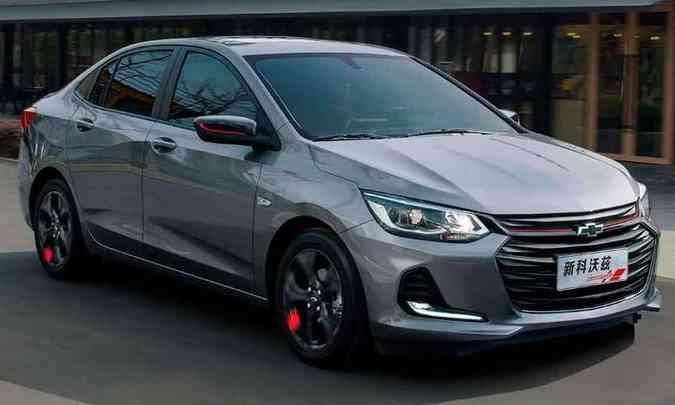 Sedã compacto ganhou linhas mais esportivas, com grade ampla e para-choque rebuscado(foto: Chevrolet/Divulgação)
