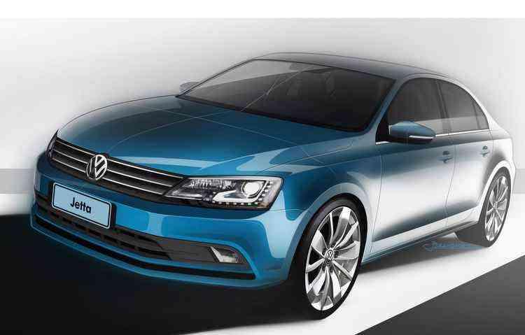 Ford, Peugeot e Volkswagen costumam divulgar os esboços dos principais lançamentos para dar um gostinho a mais - Volkswagen/divulgação
