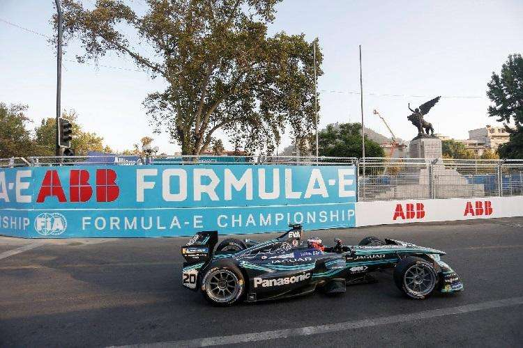 Carro durante a Fórmula E em Santiago, no Chile  - ABB/ Divulgação