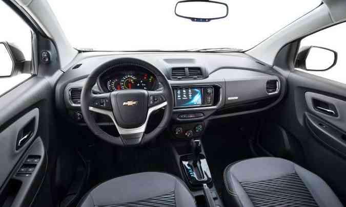 De acordo com o fabricante, o painel foi modificado e o acabamento melhorou de qualidade(foto: Chevrolet/Divulgação)