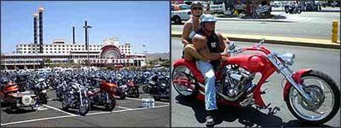 Realizado desde 1983, vento reuniu mais de 70 mil motociclistas, a maioria de modelos Harley-Davidson modificados, além de tipos exóticos que fazem questão de chamar a atenção, com a moto e no visual(foto: Fotos: Téo Mascarenhas/Especial para EM - 6/6/07)