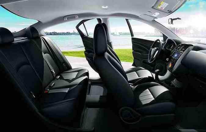 Aposta é para o conforto interno, com 2,60 metros de entre-eixos (foto: Nissan/divulgação )
