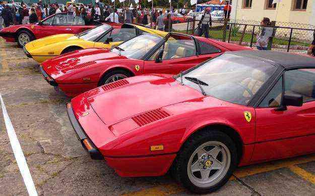 Ferrari V8 antiga lidera a importação da marca para o Brasil - Boris Feldman/EM/D. A Press