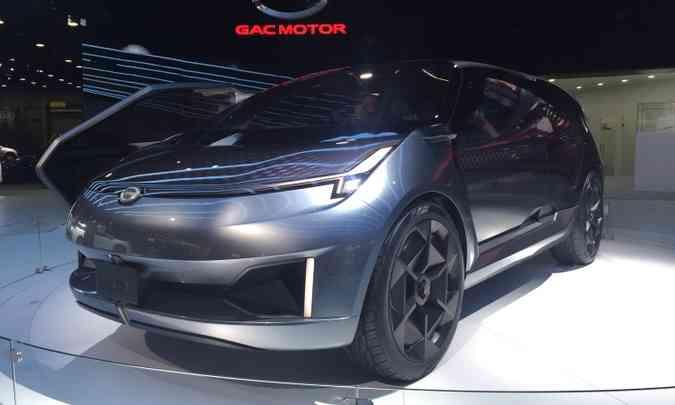 A chinesa GAC apresenta o conceito Entranze, uma minivan com estilo de crossover(foto: Enio Greco/EM/D.A Press)
