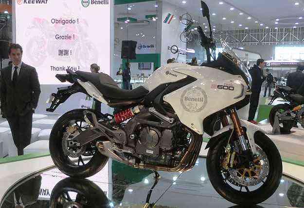 A italiana Benelli apresentou a inédita big trail BN 600, com motor de quatro cilindros - Teo Mascarenhas/Esp. EM