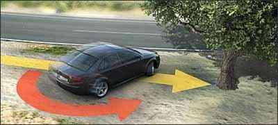 ESP evita acidente que mais provoca mortes: a derrapagem, que acaba resultando na colisão lateral do automóvel - Fotos: Bosch/Divulgação