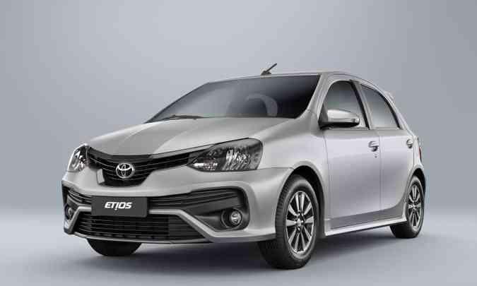 O pequeno Toyota Etios deixa de ser comercializado no Brasil a partir deste mês(foto: Toyota/Divulgação)