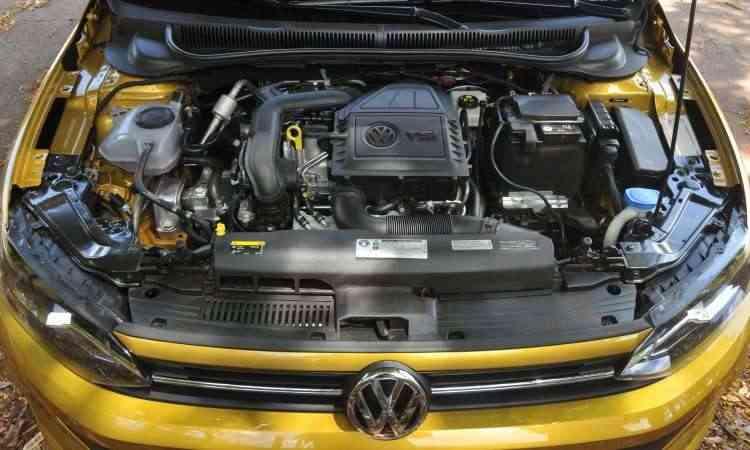 O eficiente motor 1.0 TSI, com turbo e injeção direta de combustível - Jair Amaral/EM/D.A Press