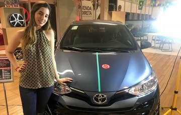 Maria Luiza possui a PPD e toma como regra os cuidados na hora de dirigir - THAYS MARTINS/ESP. DP