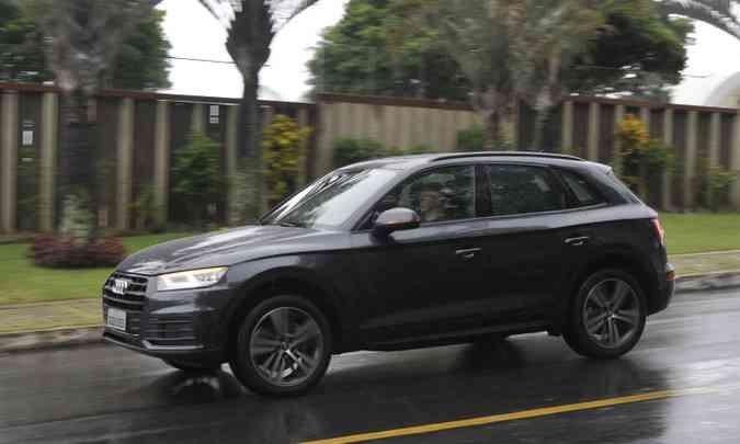 Novo Audi Q5 manteve estilo discreto, mas agrada(foto: Juarez Rodrigues/EM/D.A Press)