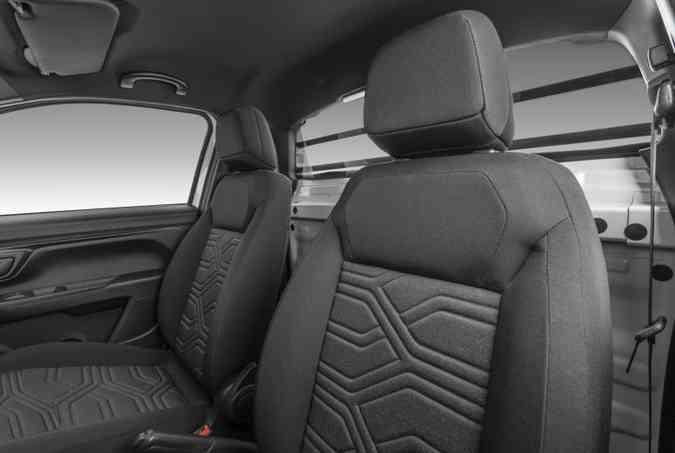 Fiat Strada cabine Plus terá 151,2 litros de volume atrás dos bancos(foto: Fiat/Divulgação)