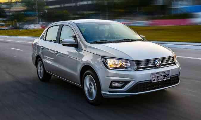 No segmento dos sedãs compactos de entrada o campeão de vendas é o VW Voyage, com 13.280 unidades emplacadas até maio(foto: Pedro Danthas/Volkswagen/Divulgação)