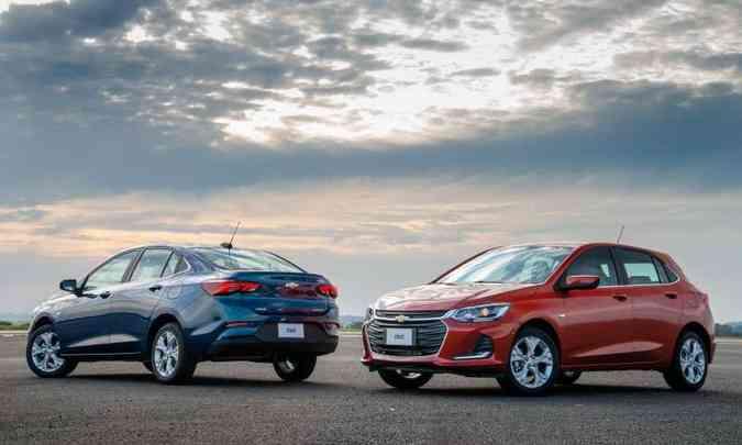 Chevrolet Onix e Onix Plus(foto: Chevrolet/Divulgação)
