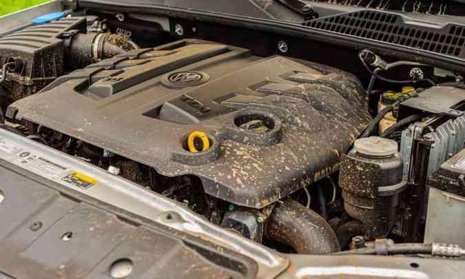 O motor 3.0 litros V6 desenvolve 258cv e 59,1kgfm de torque máximo, garantindo bom desempenho(foto: Fotos: Jorge Lopes/EM/D.A Press)