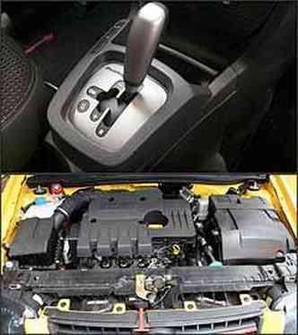 Câmbio manual automatizado permite trocas manuais e automáticas. Já o motor 1.8 desenvolve 112 cv de potência com gasolina e 114 cv cm álcool