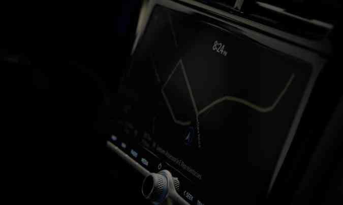 A central multimídia blueNAV tem tela de 10,25 polegadas, navegação nativa e conexão para Apple Car Play e Android Auto(foto: Hyundai/Divulgação)