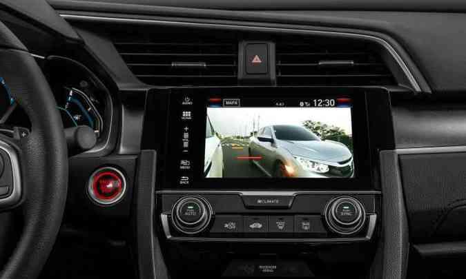 Tela de sete polegadas com navegador e informações sobre tráfego é exclusiva da Touring(foto: Honda/Divulgação)