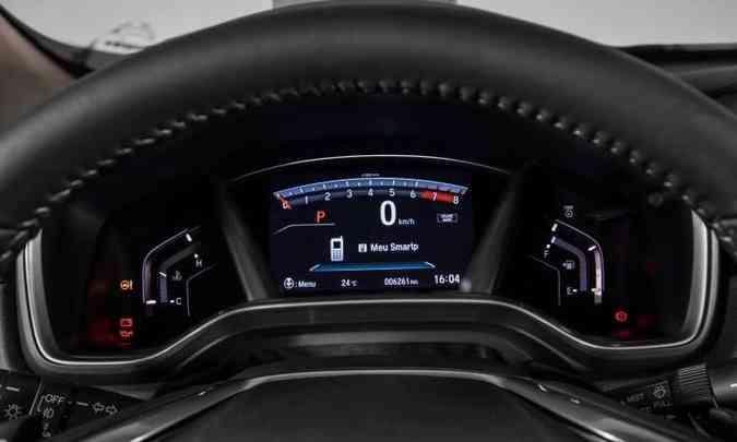 O painel de instrumentos é totalmente digital, com tela configurável de sete polegadas(foto: Honda/Divulgação)