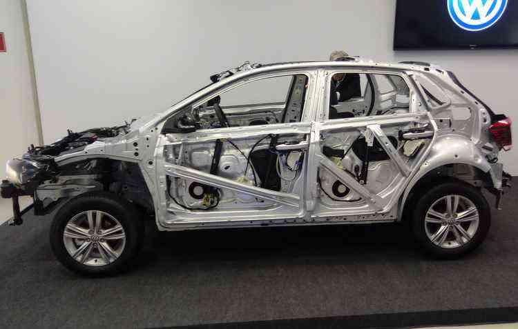 %u201CNudes%u201D do Polo foi exibida para mostrar as diferenças da estrutura do novo modelo  - Julio Pontes / Divulgação