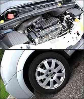Motor 1.8 tem 114 cv de potência com álcool
