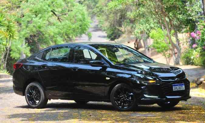 Entre os sedãs compactos premium, destaque para o Chevrolet Onix Plus, com 23.976 unidades emplacadas no acumulado do ano(foto: Gladyston Rodrigues/EM/D.A Press)