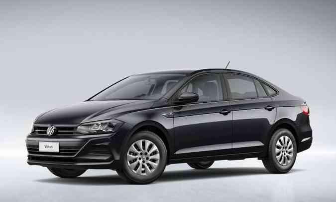 O Virtus Sense MSI traz os mesmos itens de série do hatch e é equipado com o motor 1.6 MSI de 120cv(foto: Volkswagen/Divulgação)