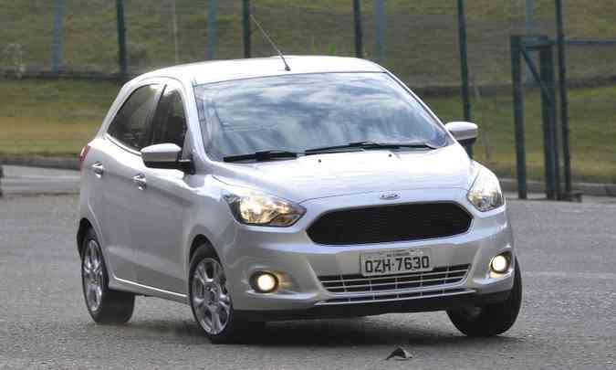 Por R$ 44.780, o Ford Ka 1.0 S não traz vidros elétricos, só manivelas (foto: Juarez Rodrigues/EM/D.A Press)