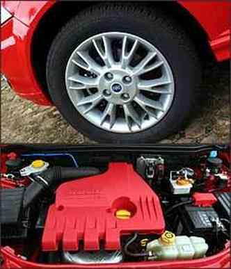 Rodas de liga são exclusivas para esta versão. Motor 1.8 tem bom desempenho e uma capa vermelha