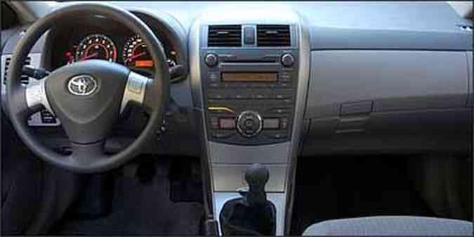 Instrumentos de fácil leitura e comandos no volante(foto: Fotos: Marlos Ney Vidal/EM/D.A Press - 10/06/08)