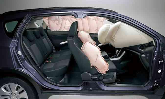 Defeito de funcionamento dos airbags compromete a segurança do motorista e passageiros(foto: Suzuki/Divulgação)