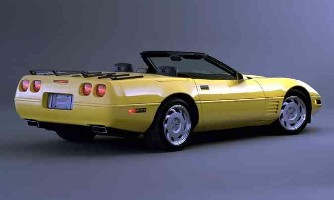 Corvette conversível 1992, já na quarta geração(foto: Editora Alaúde/Divulgação)