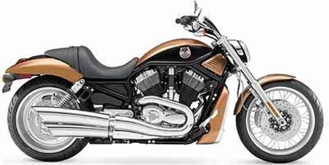 Esportiva V-Rod tem motor refrigerado a água(foto: Fotos: Harley-Davidson/Divulgação)