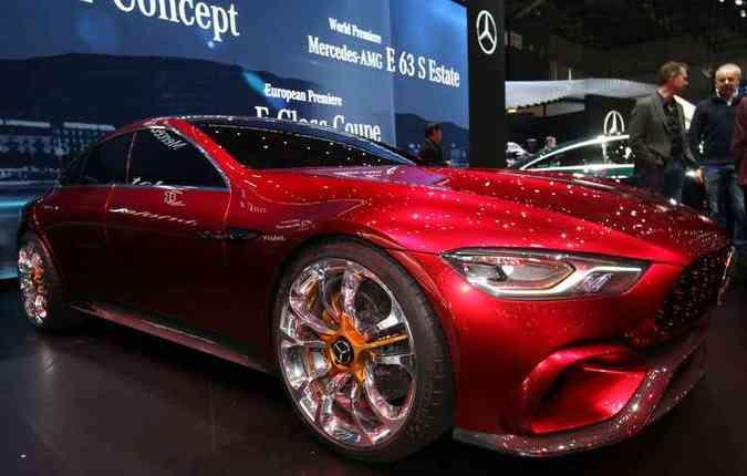 AMG GT Concept será capaz, segundo a Mercedes-Benz de acelerar de 0 a 100 km/h em até de 3 segundos(foto: Mercedes-Benz/Divulgação)