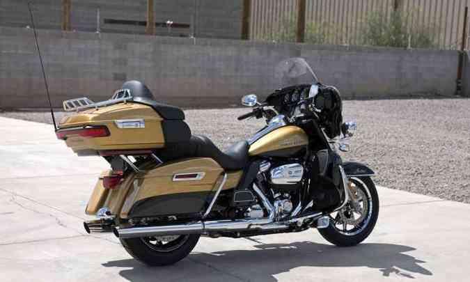 A Touring Ultra Limited tem novo e inédito motor equipado com refrigeração líquida(foto: Harley Davidson/Divulgação)