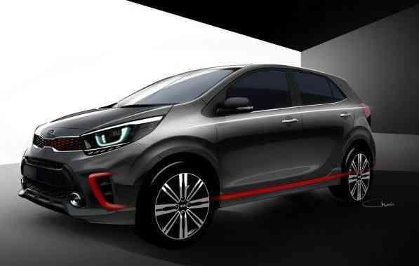 O modelo será mais esportivo e mais amplo que o Picanto atual - Kia/Divulgação