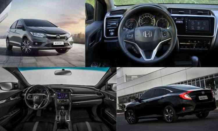 Colagem com fotos de divulgação da Honda, além de Juarez Rodrigues/EM/D.A Press