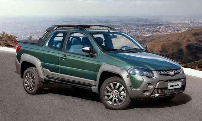 A picape Fiat Strada, que será renovada, mantém a liderança no segmento de comerciais leves(foto: Fiat/Divulgação)