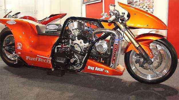 Entre as atrações da feira estarão modelos especiais, como um dragster com motor de 500cv - Fotos: Motofair/Divulgação