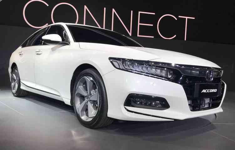 Accord da Honda com lançamento ainda este ano ao preço de R$ 198.500. Foto: Jorge Moraes / DP -