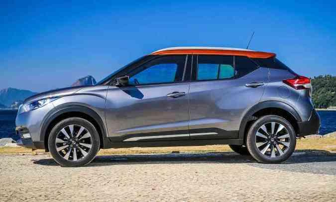 Teto bicolor com linha baixa é uma das marcas do Kicks(foto: Nissan/Divulgação)