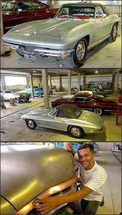 Proprietário gastou cerca de R$ 80 mil para deixar como nova a Corvette Sting Ray. Valdeir é um artista na recuperação das carrocerias -