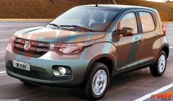 Essa é a nossa aposta para o visual do Fiat Mobi(foto: Paulinho Miranda/EM)