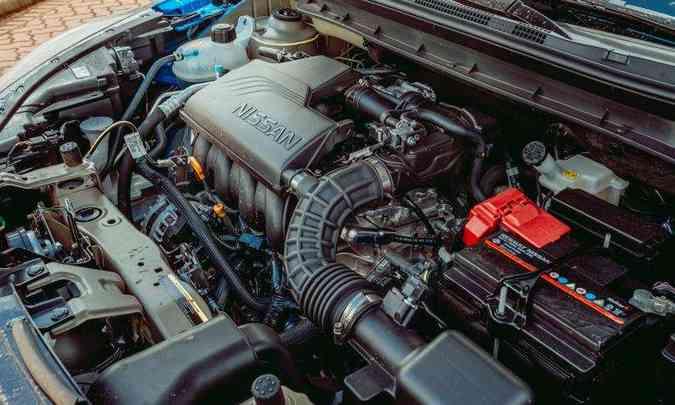 O ponto fraco do novo Nissan Kicks é o motor 1.6 aspirado, que proporciona desempenho apenas razoável(foto: Jorge Lopes/EM/D.A Press)