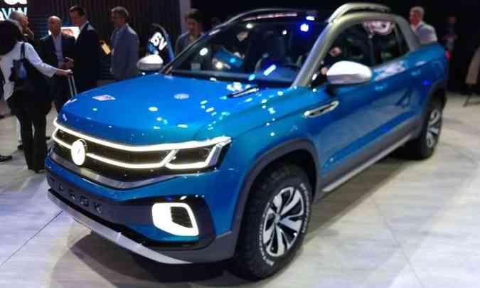 A Volkswagen apresentou a picape Tarok como conceito, mas admitiu que o modelo será produzido em série(foto: Pedro Cerqueira/EM/D.A Press)