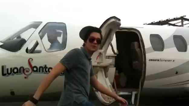 Luan Santana é um dos artistas que usam o Cessna Citation - Luan Santana/Divulgação